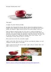 Does apple a day keep doctor away  eknazar