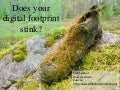 Does your digital footprint stink?