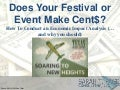 Does Your Festival or Event MakeCcent$