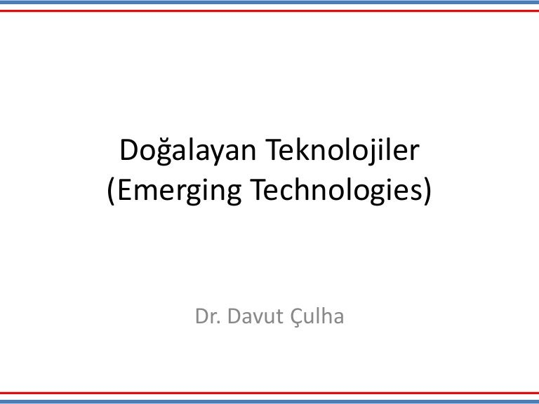 review of two emerging technologies Digital trends is your premier source for technology news and unbiased expert product reviews of hdtvs, laptops, smartphones and more.