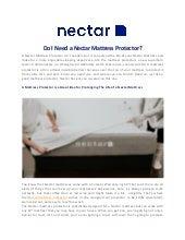 Do I Need a Nectar Mattress Protector?
