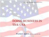 Doing business in America USA
