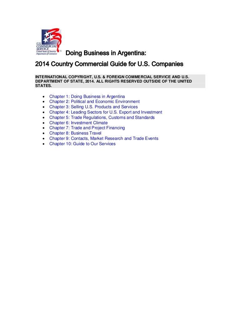 Dr Dev Kambhampati | Doing Business in Argentina- 2014