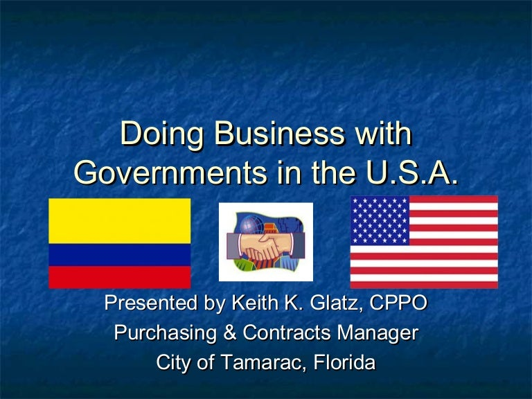 Doing business with governments in the u s a