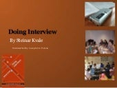 Doing interview