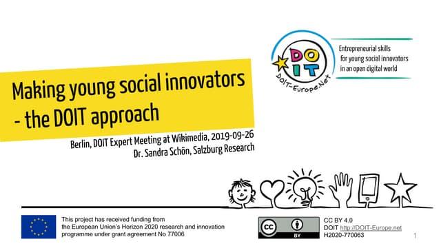 Making social innovators - The DOIT Approach