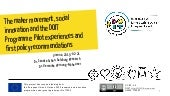 The maker movement, social innovation and the DOIT programme: Pilot experiences and first policy recommendations