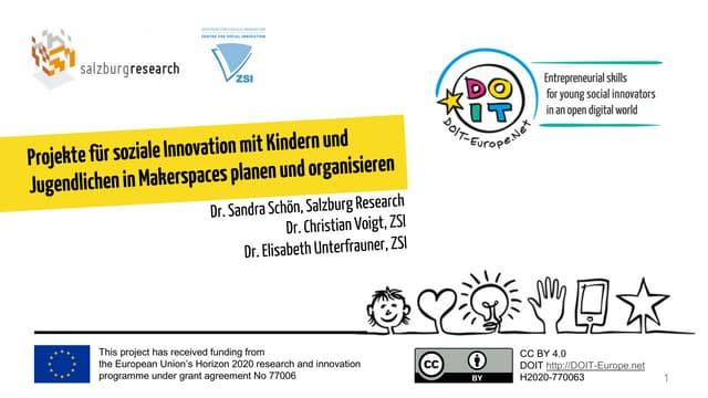 [German] Projekte für soziale Innovation mit Kindern und Jugendlichen in Makerspaces planen und organisieren