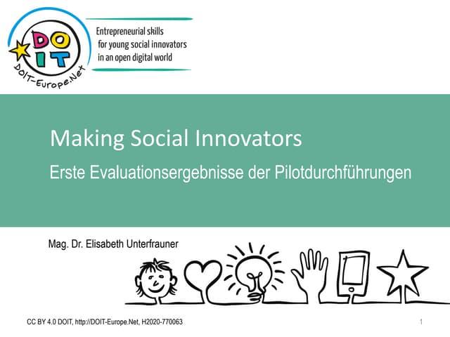 [German] DOIT - First evaluation results by Elisabeth Unterfrauner (ZSI)