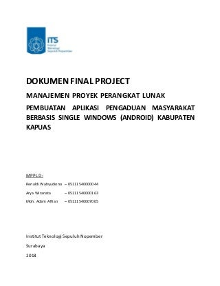 Dokumen Final Project Manajemen Proyek Perangkat Lunak