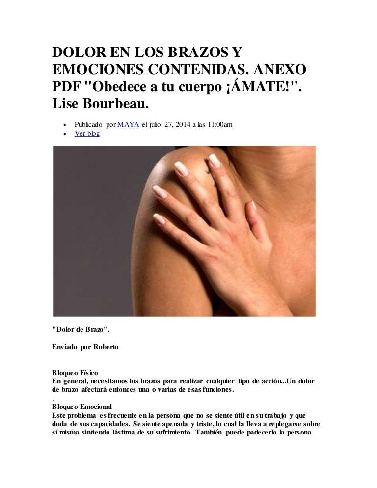 dolor en los brazos causas