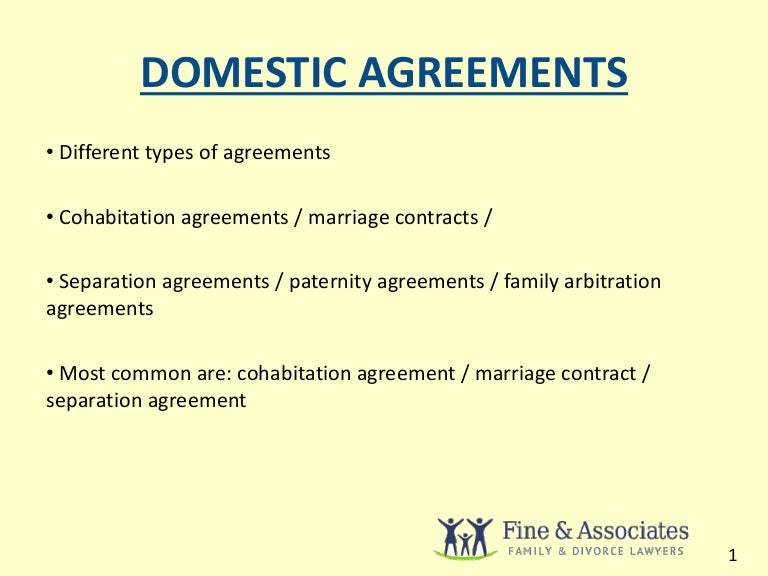 Domestic Agreement Guide & Rules For Ontario
