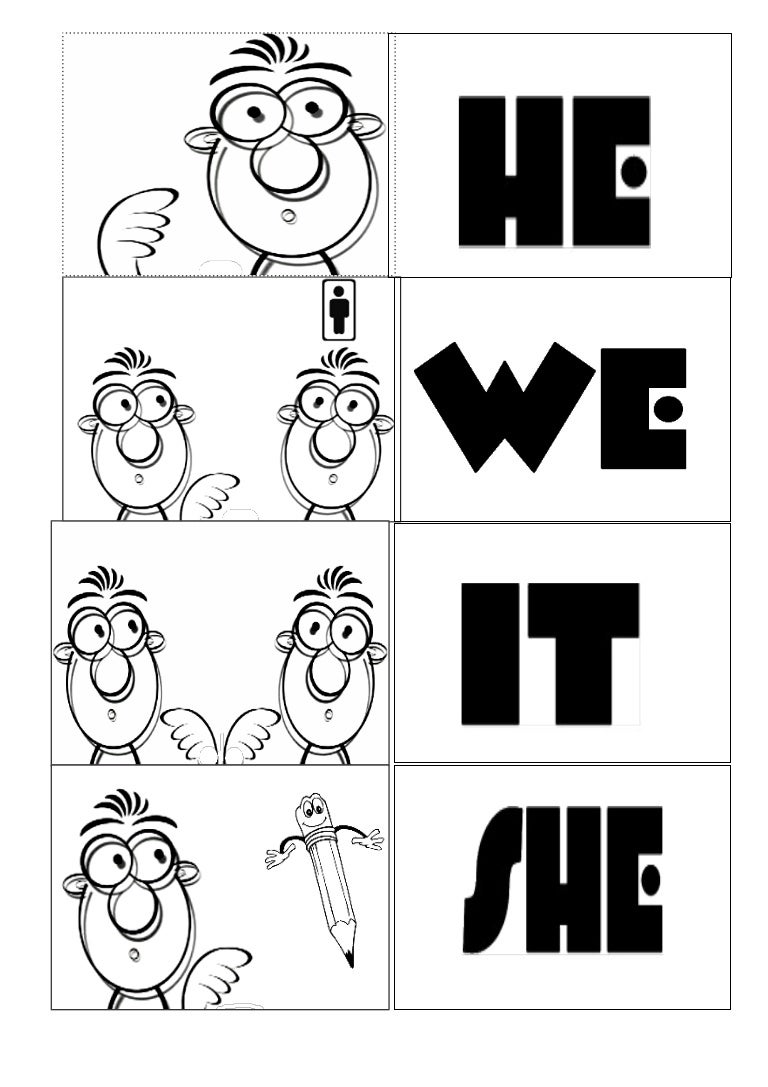 personal pronouns coloring pages - photo#13