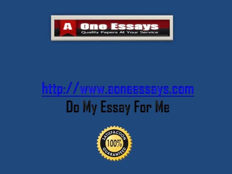 Do my essay for me com