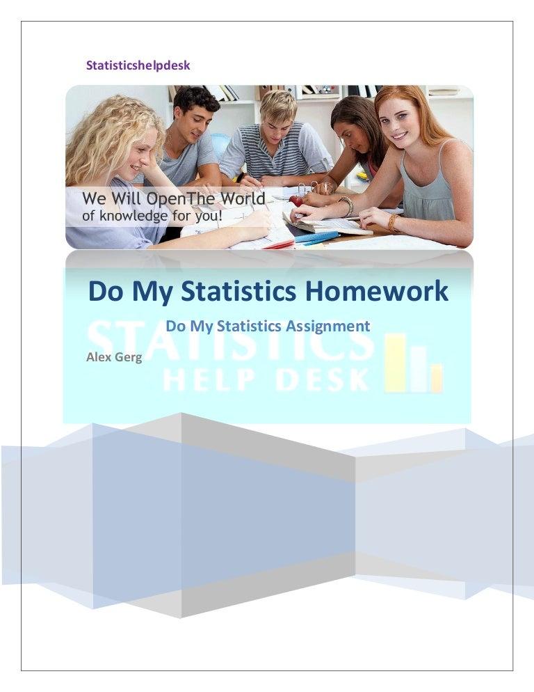 Do my statistics homework