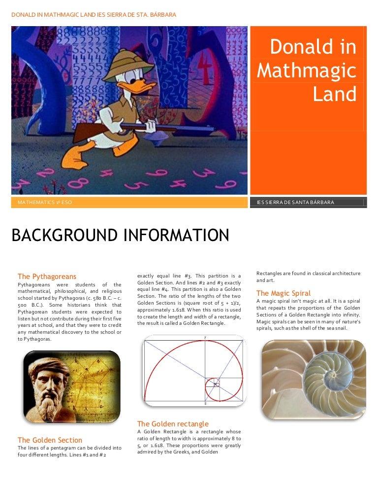 Donald in mayhmagic land – Donald Duck in Mathmagic Land Worksheet