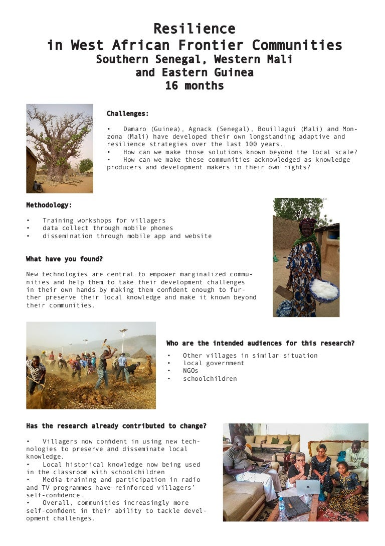 Power of partnership conference: Poster: Resilience in West African f…