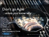 Don't go Agile unless you know why