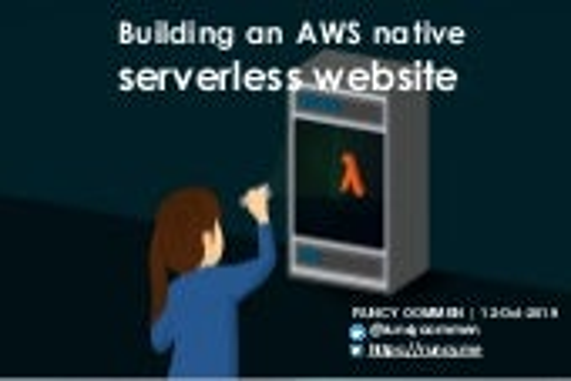ACDKOCHI19 - Building a serverless full-stack AWS native website