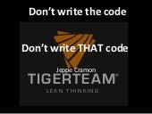 Don't write the code