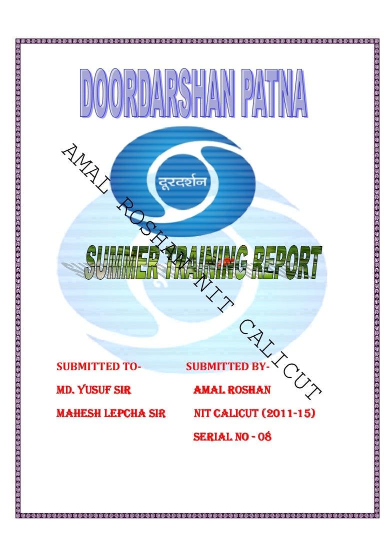 Doordarshan patna summer training