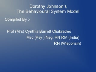 Dorothy johnson ppt