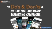 Do's & Don'ts of Stellar Push & In-App Marketing Campaigns