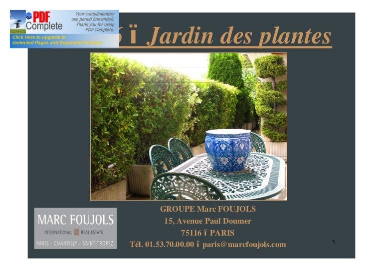 VENTE APPARTEMENT TERRASSE PARIS 5 JARDIN DES PLANTES