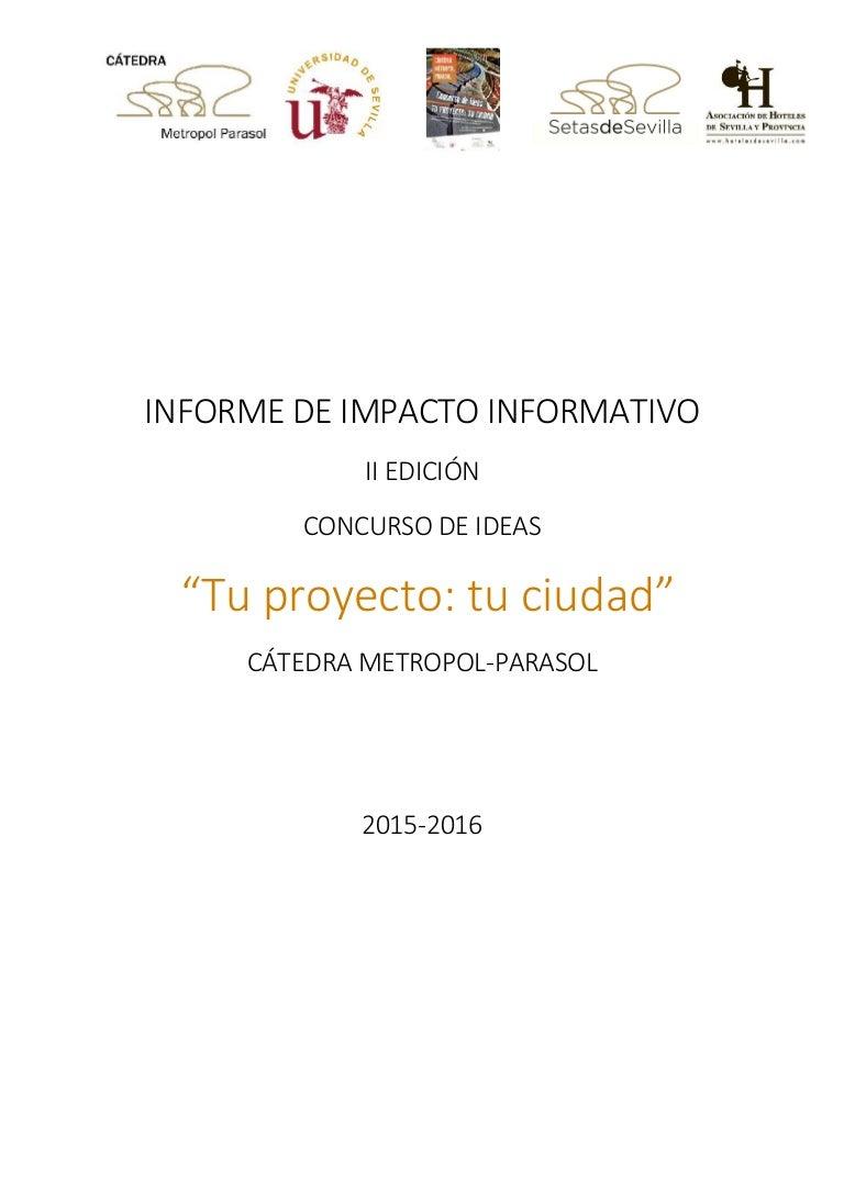 Dossier Impacto II Concurso de Ideas 2015