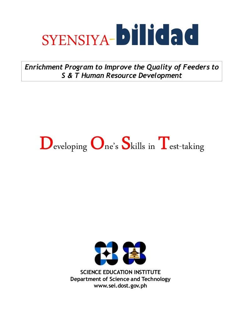 Dost SEI-Scholarship Exam Reviewer