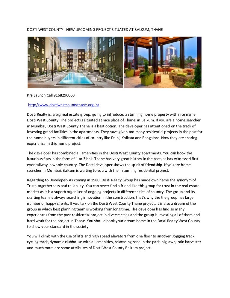 Residential Project Brochure Pdf