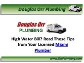 Licensed Miami Plumber in FL Shares Tips on Saving Money on Water Bills