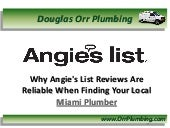 Plumbers Miami - Finding Miami Plumbing Contractors Through Angie's List