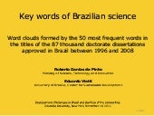 Key words of Brazilian science