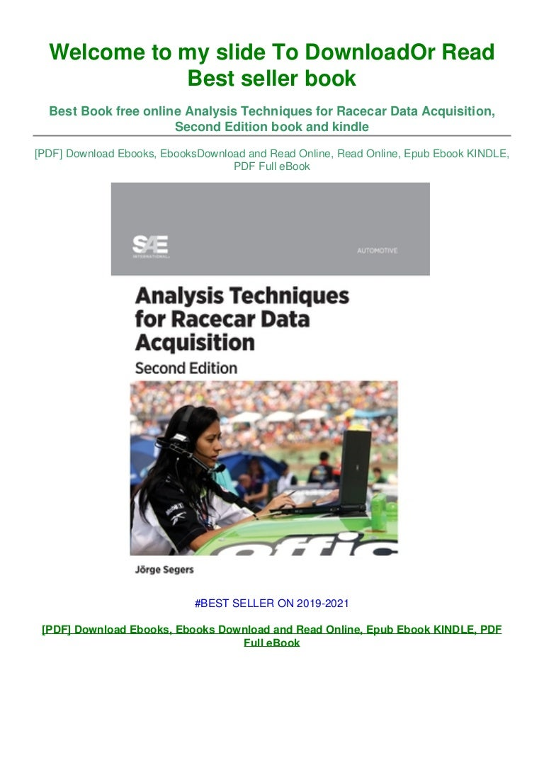Free [DOWNLOAD IN !PDF Analysis Techniques for Racecar Data Acquisition, Second Edition #^EPub]