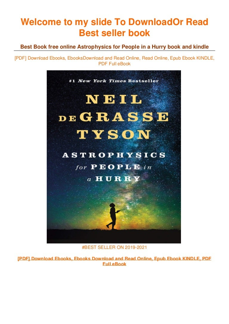 Free [DOWNLOAD IN !#PDF Astrophysics for People in a Hurry [PDF] Best Books 2021