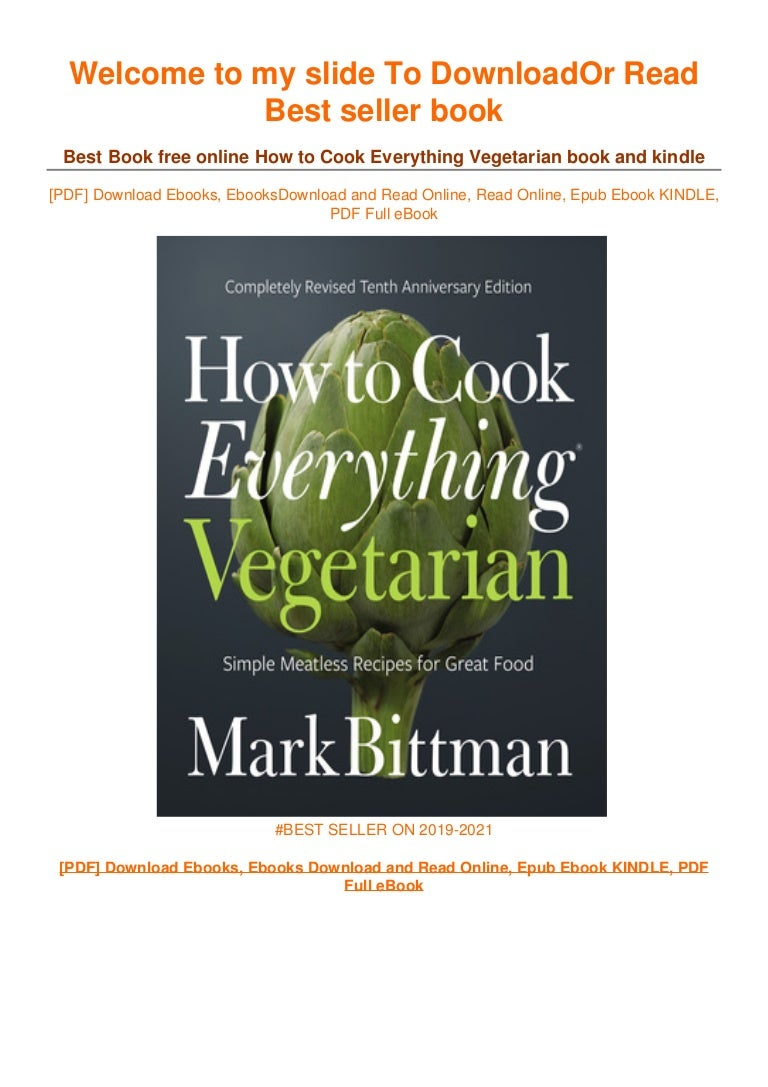 Free [DOWNLOAD IN ~*PDF How to Cook Everything Vegetarian ~^EPub]