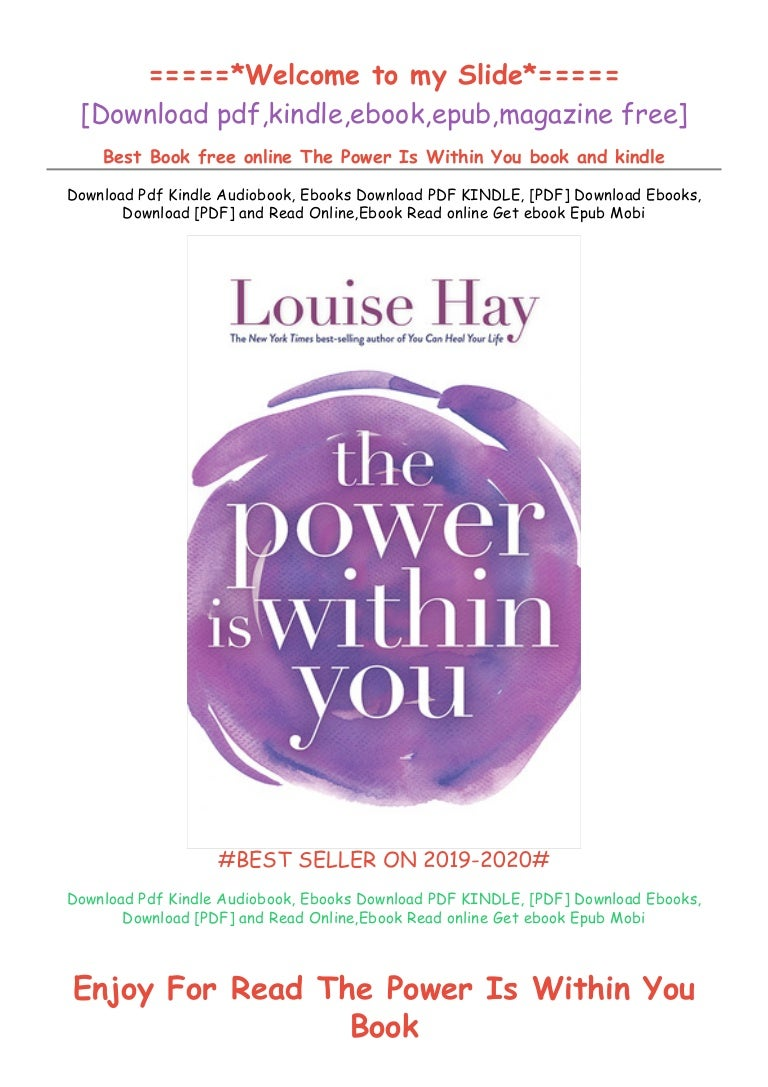 Free [DOWNLOAD IN ^>PDF (The Power Is Within You) @>BOOK]