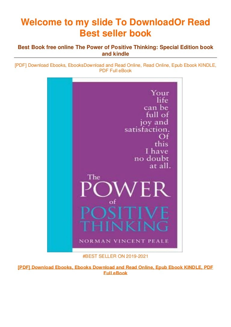 Free [DOWNLOAD IN ~!PDF The Power of Positive Thinking: Special Edition #^EPub]