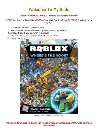 *((Download/Read)) PDF/EPub Official Roblox Roblox: Where's the Noob?