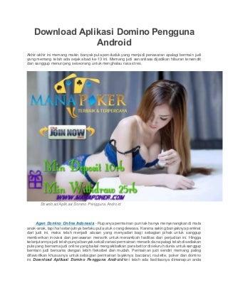 Download aplikasi domino pengguna android
