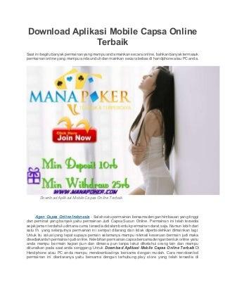 Download aplikasi mobile capsa online terbaik