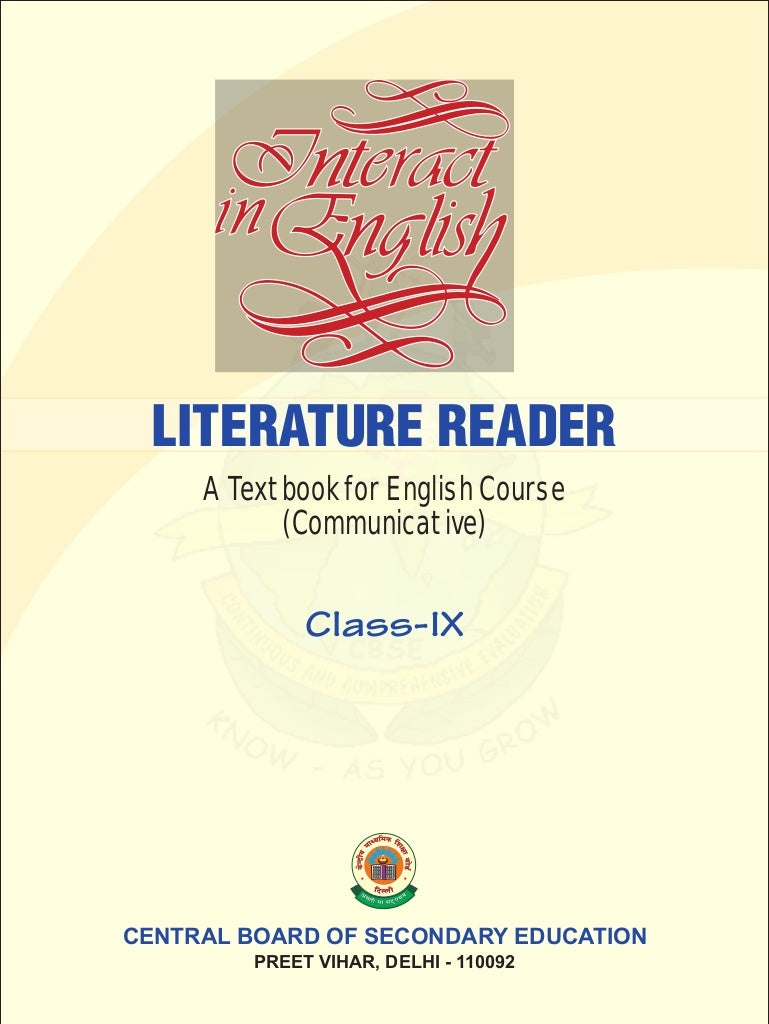 (Download) cbse text books interact in english literature reader cl…