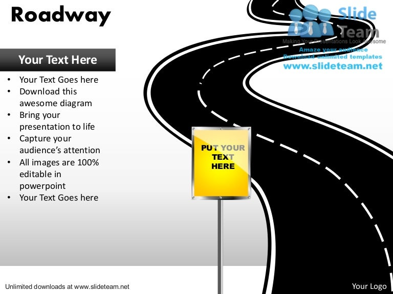 Download editable road map power point slides and road map powerpoint – Roadmap Templates