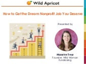 Mazarine Treyz: How to Get the Dream Nonprofit Job You Deserve