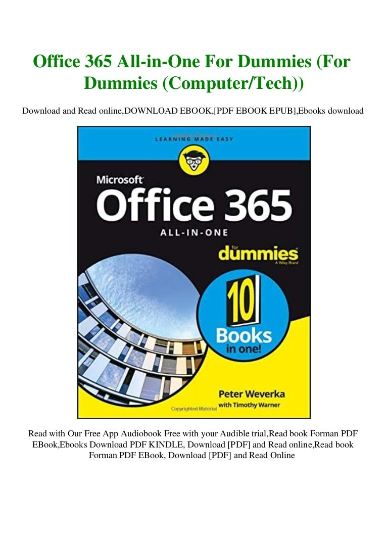 Free DOWNLOAD FREE Office 365 All-in-One For Dummies (For Dummies (ComputerTech)) [PDF  mobi  ePub]