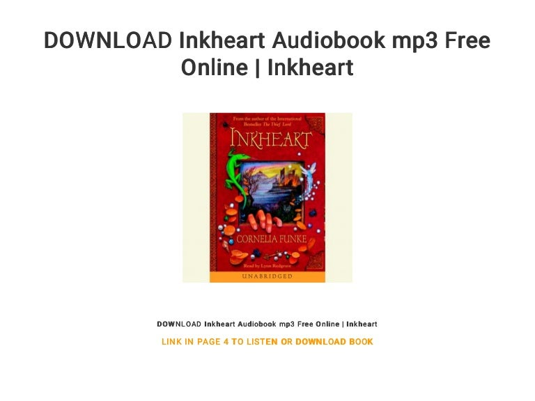 Inkheart audiobook free mp3 download.