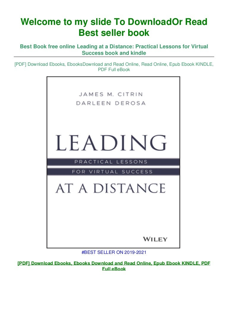 Free [DOWNLOAD IN !PDF Leading at a Distance: Practical Lessons for Virtual Success ^EPub]