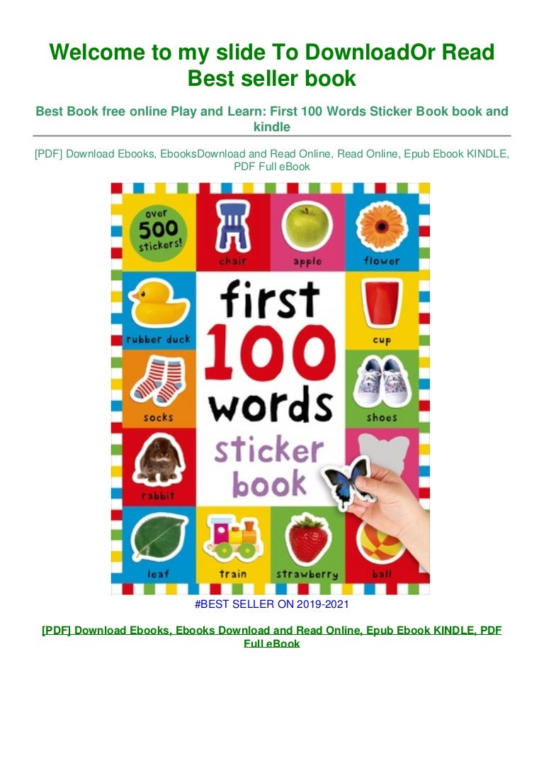 Free [DOWNLOAD IN ~!PDF Play and Learn: First 100 Words Sticker Book ~^EPub]