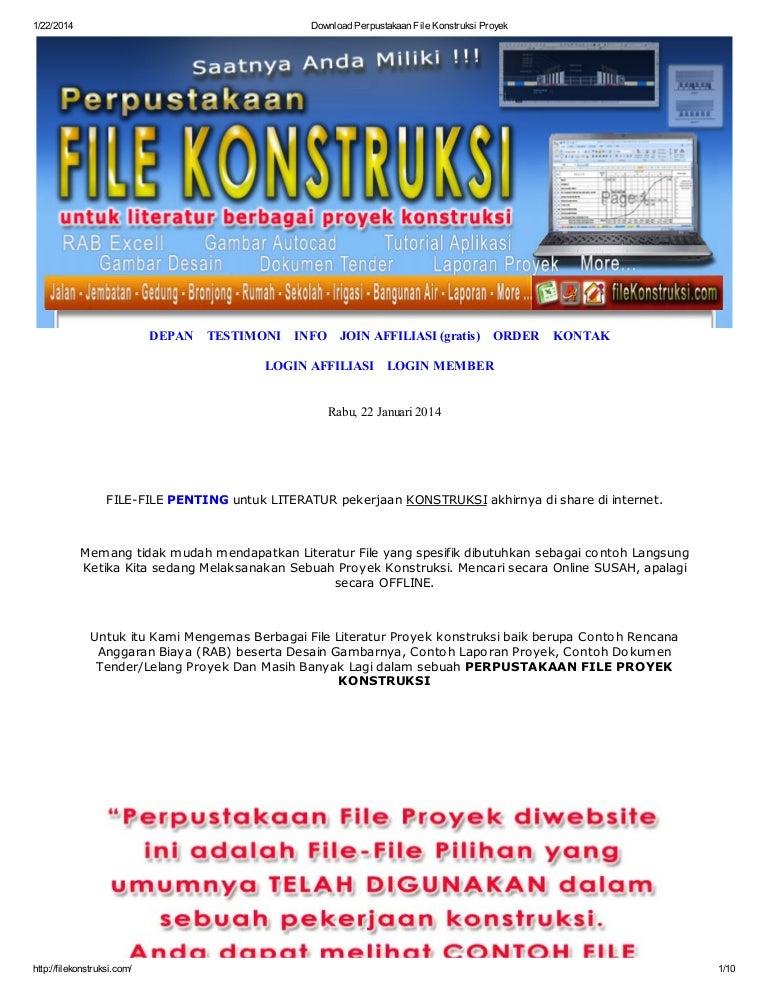 Download Perpustakaan File Konstruksi Proyek Di Www Filekonstruksi Com